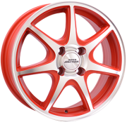 Alufælg ICE 7 RP 15x6.0 4x100 ET40 Ø73.1 Red Polished