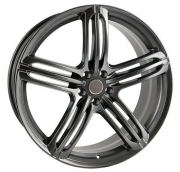 Alufælg NEW RS6 LOOK 22x9.5 5x130 ET50 Ø71.6 Silver Anthrazite Shadow TRISTAR